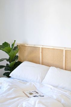 DIY cane headboard IKEA hack - DIY cane headboard IKEA hack The Effective Pictures We Offer You About diy furniture A quality pic - Diy Ikea Hacks, Hack Ikea, Ivar Hack, Bedroom Hacks, Ikea Bedroom, Home Bedroom, Bedroom Decor, Bedroom Sets, Bedrooms