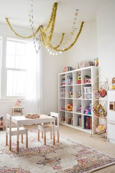 For Christmas we surprised the girls with a new playroom! We actually moved their playroom from our family room to my office. The room ...