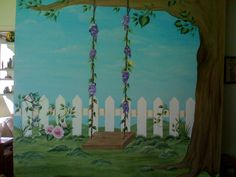 I painted this mural for my mom's daycare room.