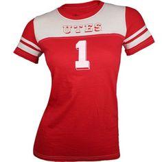 Utah Utes Women's Slub Football T-Shirt