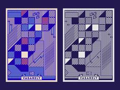 Vasarely /110 Poster by Szende Brassai / Adline #Design Popular #Dribbble #shots