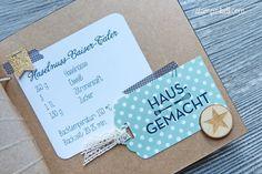 Mini Album Weihnachten Rezepteheft Rezeptesammlung Rezepte Stampin´ Up! O Tannenbaum Hausgemacht Washi Tape