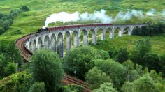 "A view of the Glenfinnan Viaduct in Glenfinnan, Scotland, the most iconic section of the West Highland Line.Fans of the ""Harry Potter"" films might recognize it. It's been featured in three films in the series, including a flying car sequence in ""Harry Potter and the Chamber of Secrets,"""