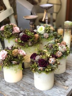 Flower Decorations, Table Decorations, Dry Flowers, Flower Frame, Flower Arrangements, Wreaths, Fall, Garden, Inspiration