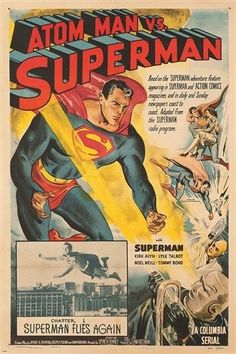 VINTAGE SUPERMAN COMIC POSTER caped crusader super hero RARE FIND 24X36 hot