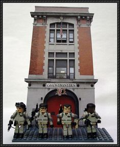 Ghostbusters - Firehouse Free Paper Model Download - http://www.papercraftsquare.com/ghostbusters-firehouse-free-paper-model-download.html