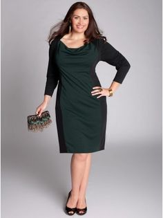 af377ef6823 Nicole Plus Size Dress in Parisian Green - Plus Size Final Cut by IGIGI  Зеленое Платье