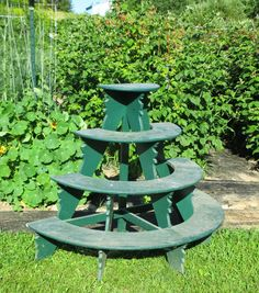 The Deliberate Agrarian: Evelyn's Plant Stand - Herrick Kimball, always a delightful read! Autumn Garden, Sheds, Side Tables, Houseplants, Front Porch, Grid, Garden Ideas, Gardens, Backyard