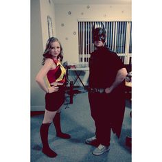 Pin for Later: 23 Kickass Comic-Book Costumes For Couples Batman and Robin
