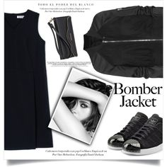 all black by aanchal-w on Polyvore featuring Jil Sander, Rick Owens, adidas Originals, Rebecca Minkoff, Chanel and bomberjackets
