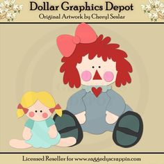 Annie and Her Dolly 1 - Cutting Files / Paper Piecing Patterns - $1.00 : Dollar Graphics Depot, Quality Graphics ~ Discount Prices