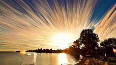Canadian photographer Matt Molloy creates a stunning time-lapse image by stacking several photos taken of the sunset at Lake Ontario in Canada. (Matt Molloy)