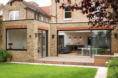 A handsome period house situated in South West London, Pier House benefited from a wide plan maximised from a single storey side return and rear extension. Brick Extension, House Extension Plans, Single Storey Extension, House Extension Design, Extension Designs, Glass Extension, House Design, Extension Ideas, 1930s House Extension