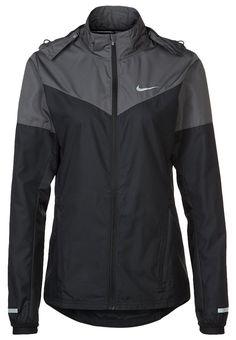 Nike Performance - VAPOR - Laufjacke - black/dark grey/volt/reflective silver