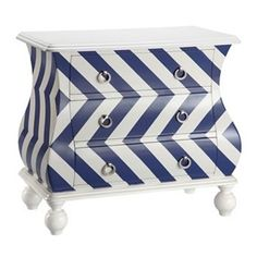 Intelligent Design Chevron Bombe Dresser