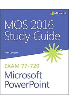 Advance your everyday proficiency with PowerPoint 2016. And earn the credential that proves it! Demonstrate your expertise with Microsoft PowerPoint! Designed to help you practice and prepare for Microsoft Office Specialist (MOS): PowerPoint 2016 certification, this official Study Guide delivers: In-depth preparation for each MOS objective Detailed procedures to help build the skills measured by the exam... #outlook #365 #technology #computer #business Microsoft Excel, Microsoft Office Programs, Microsoft Powerpoint, Powerpoint Free, Kindle, Vba Excel, Free Epub, Bound Book, Mo S
