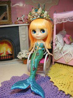 Mermaid for Kersten - OOAK, via Flickr.
