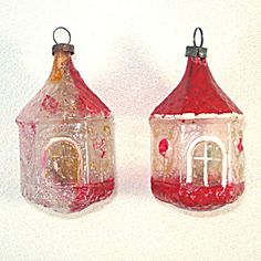 German Unsilvered Antique Gazebo Glass Christmas Ornaments. Please click the image for more information.