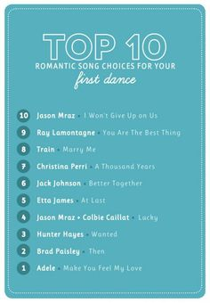 The Budget Savvy Bride Sharing our top 10 picks for romantic wedding first dance songs!!