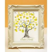 This thumbprint tree keepsake chart would be wonderful way to remember weddings, showers, anniversary parties and family reunions. The blank thumbprint tree is available in three designs as a download from ShopFamilyTree.com.