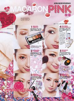 macaron pink makeup