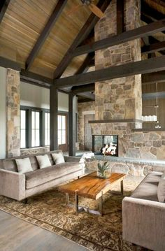 crunchylipstick: 55 Awe-inspiring rustic living room design ideas (via onekindesign.com)
