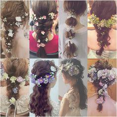 いいね!4,861件、コメント27件 ― マリさん(@brillantmari)のInstagramアカウント: 「* * wedding ♡ hair * * 髪はシンプルにまとめて 生花で華やかさを 出してあります♡ * * 生花のバランスも 大切にしています♡ * * #ヘアアレンジ #ウェディング…」