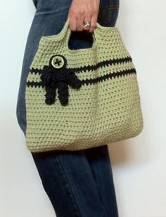 Bag Crochet Pattern Easy Peasy Tote Crochet Bag by bubnutPatterns