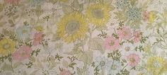 Vtg Twin FLAT Sheet Cannon Royal Family Floral Sunflower Garden Percale 72x104