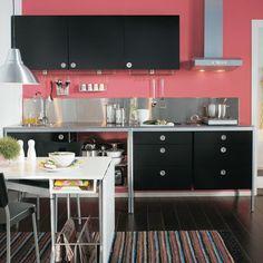 cuisine noire esprit loft ikea udden | loft, cuisine and black ... - Küche Udden