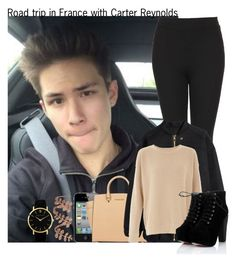"""Road trip in France with Carter Reynolds"" by diirectiioner69 ❤ liked on Polyvore featuring Larsson & Jennings, Plukka, Michael Kors, Topshop and H&M"
