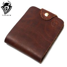 11.73$  Watch now - http://aliv6b.shopchina.info/1/go.php?t=32617717828 - 2017 New Vintage Retro High Quality Casual Genuine Crazy Horse Leather Cowhide Men Short Bifold Wallets Billfold Purse For Men  #buyonlinewebsite