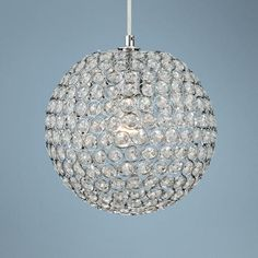 "glitzy still wins....most of the time.  (Crystal Beaded 10"" Round Pendant Light)  (P4616)"