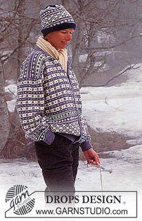 DROPS Norwegian sweater or jacket in Karisma Superwash. Free pattern by DROPS Design. Sweater Knitting Patterns, Knitting Charts, Knitting Designs, Free Knitting, Crochet Patterns, Drops Design, Drops Karisma, Norwegian Knitting, Magazine Drops