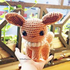 FREE SHIPPING + Ready to ship - Eevee Crochet Amigurumi, Shiny Eevee Plushies, Eeveelutions
