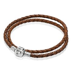 Brown, Double Leather - 590705CBN-D - Bracelets | PANDORA