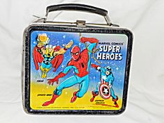 Lunchbox,Metal, Super Heroes, 1976 Aladdin. Click on the image for more information.