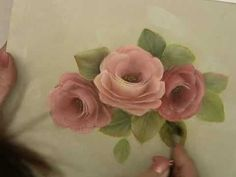 Acrylic Painting Techniques - How to Paint Roses - Stroke Roses in Acrylics