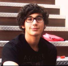 Omg Luke Brooks he's so cute with glasses
