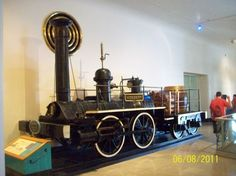 A locomotive in the hall of transportation, Museum of Science and Industry, Chicago