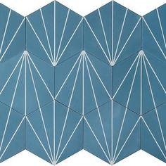 Dandelion - blue  #MarrakechDesign #design #claessonkoivistorune #cementtiles #contemporarytiles #dandeliontiles #kakel #klinker #fliser #tiles #flooring #handmadetiles #betongplattor