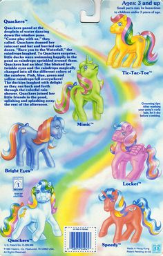 My Little Pony Twinkle-Eye Pony Year 2 Backcard Mehr Original My Little Pony, Vintage My Little Pony, Childhood Toys, Childhood Memories, Tic Tac Toe, My Little Pony Collection, Little Poney, Rainbow Brite, 90s Cartoons