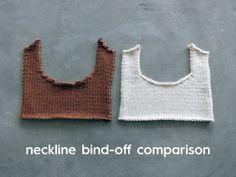 A Proper Cocoknits Neckline // Neckline Bind-off Comparison