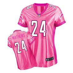 Women's Nike San Diego Chargers #24 Ryan Mathews Elite Pink New Womens Be Luvd Jersey $119.99