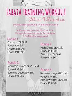 Tabata Training Workout Plan - Fit in 4 Minuten // www.de Tabata Training Workout Plan – Fit in 4 Minuten // www.de Tabata Training Workout Plan – Fit in 4 Minuten // www. Insanity Workout, Best Cardio Workout, Workout Memes, Workout Schedule, Workout Challenge, Workout Plans, Boxing Workout, Workout Tips, Fitness Workouts