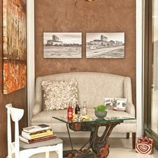 industrial living room by Margeaux Interiors Inc. - Margaret Presti