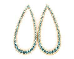 Pure Blue Teardrop Earrings