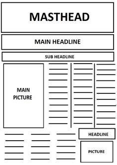 Layout Of A Newspaper Template   Yahoo Search Results