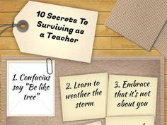 Ten Secrets To Surviving As A Teacher