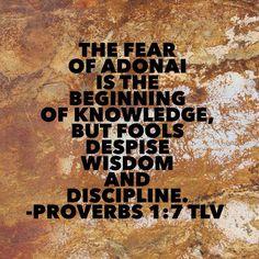Proverbs1:7 TLV